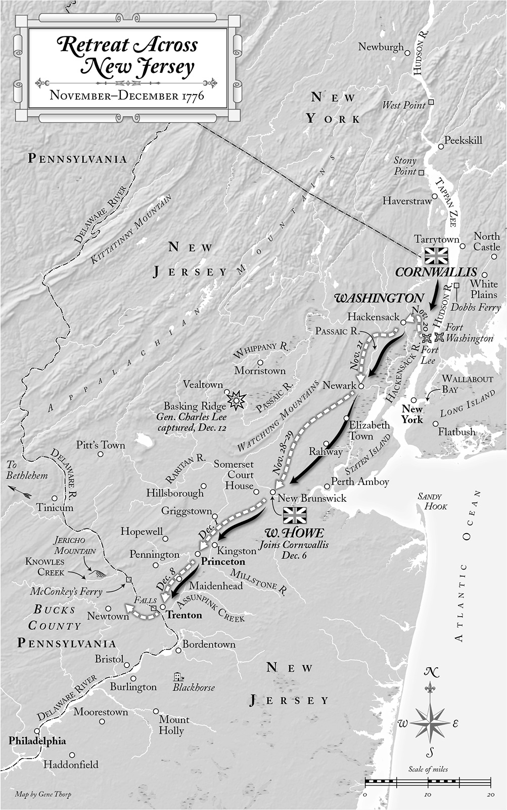 Retreat Across New Jersey, November–­December 1776
